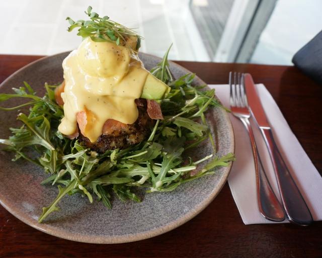 ... potato rosti with smoked salmon, avocado, poached egg and hollandaise